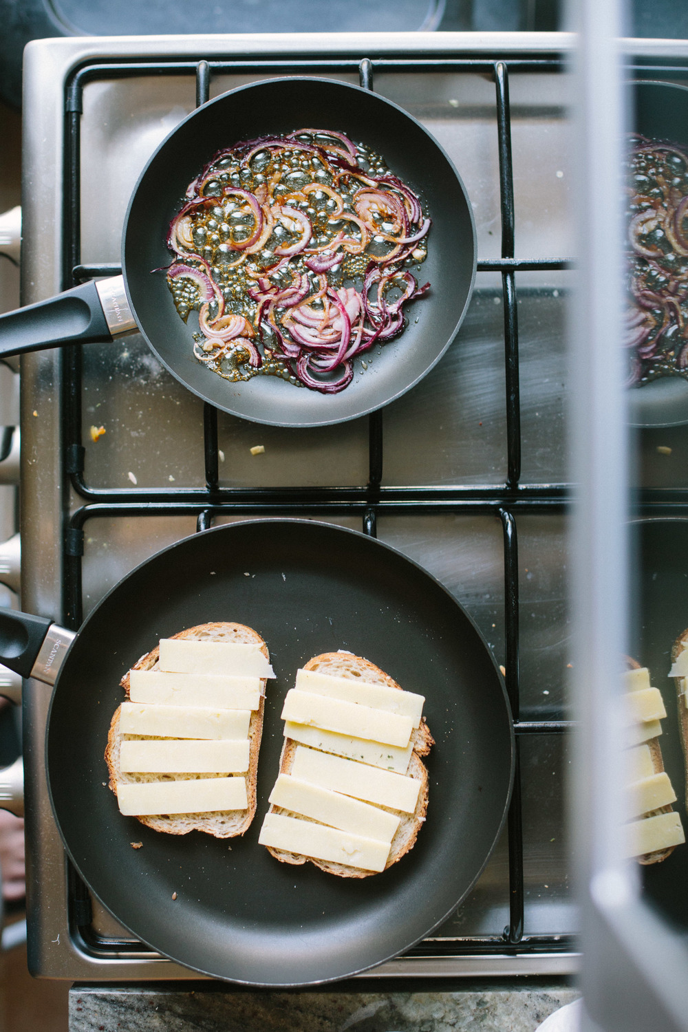 Grilled Cheese Sandwiches with Maple Caramelized Onions