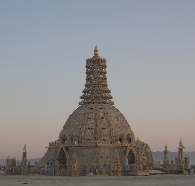 Temple at sunrise