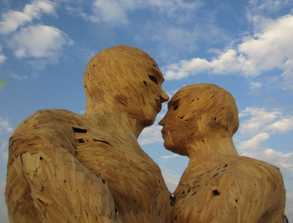 The Embrace. An art piece from Burning Man 2014.