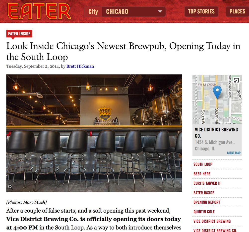 Eater Chicago; August 2014