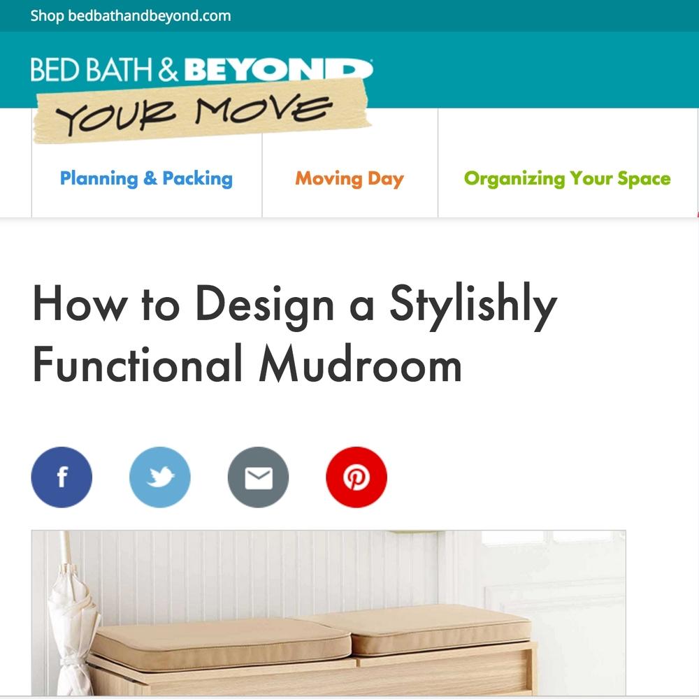 Bed Bath & Beyond: Stylish Functional Mudroom