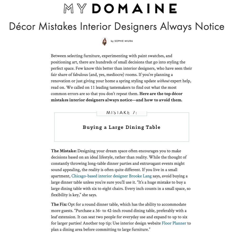MyDomaine.com: Top Home Decor Mistakes