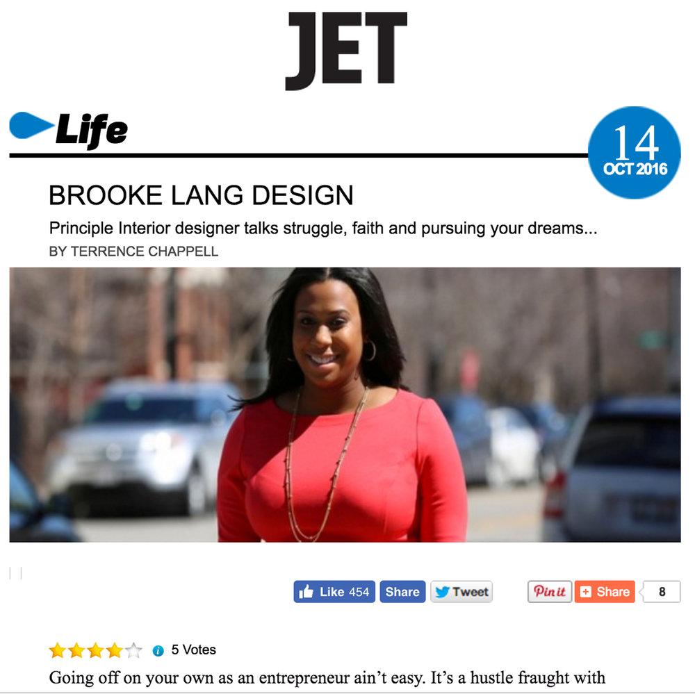 Jet Magazine: Brooke Lang Design