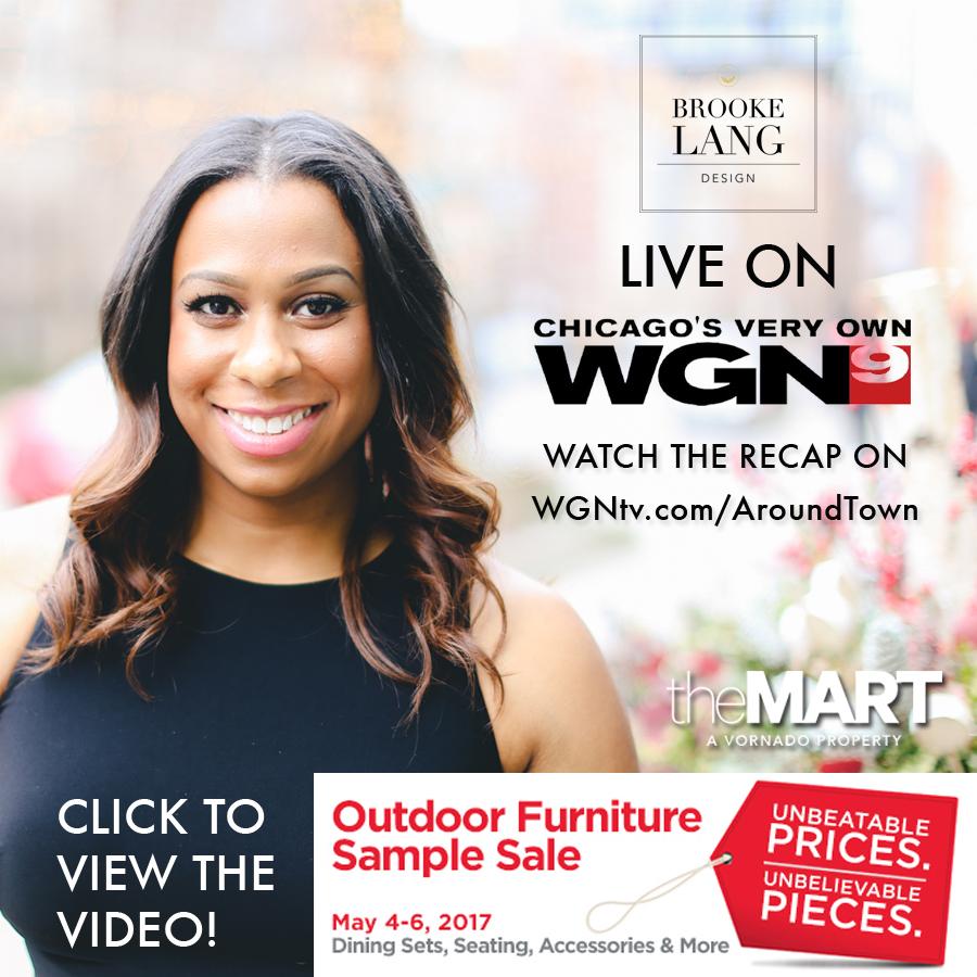 WGN TV Morning News Segment - Merchandise Mart Outdoor Sample Sale www.designcenter.com www.wgntv.com