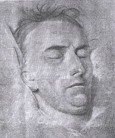 Schiller on his deathbed – drawing by the portraitist Ferdinand Jagemann, 1805