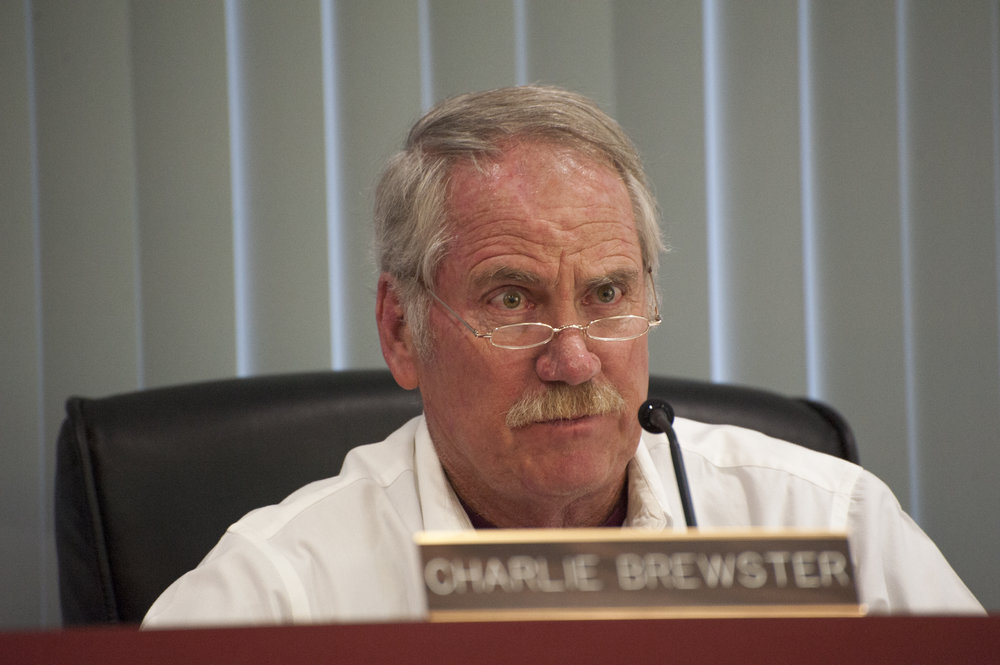 Big Bear Municipal Water District board member Charlie Brewster remains focused during public comment at the meeting Sept. 15, 2016.