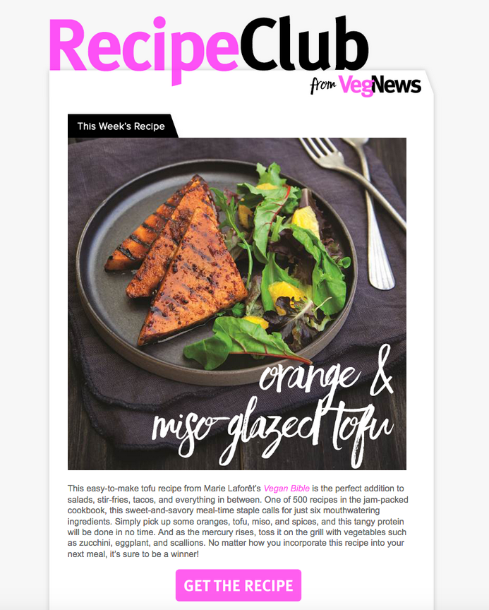 Natalie redesigned the Recipe Club Newsletter for VegNews Magazine in early 2016. She updated the overall look to reflect current VegNews style using Photoshop, HTML and Vertical Response.