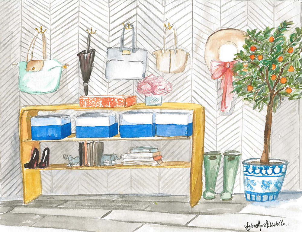 Lydia Marie Elizabeth Interior Design Orange Tree and designer handbags watercolor.jpg
