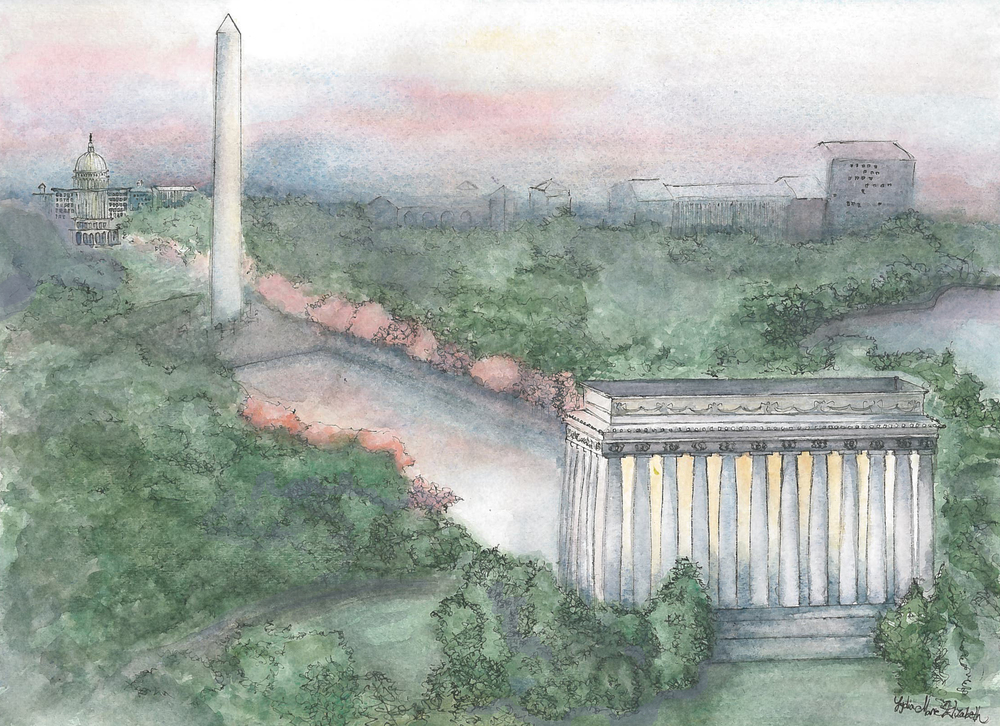 Lydia Marie Elizabeth Lincoln Memorial and Washington DC mall at Sunrise .jpg