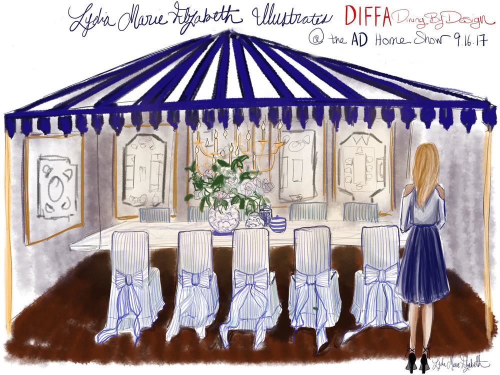 Lydia Marie Elizabeth Interior Illustrations at the Archietctural Digest Home SHOW- DIFFA Dining by Design Illustrations.jpg