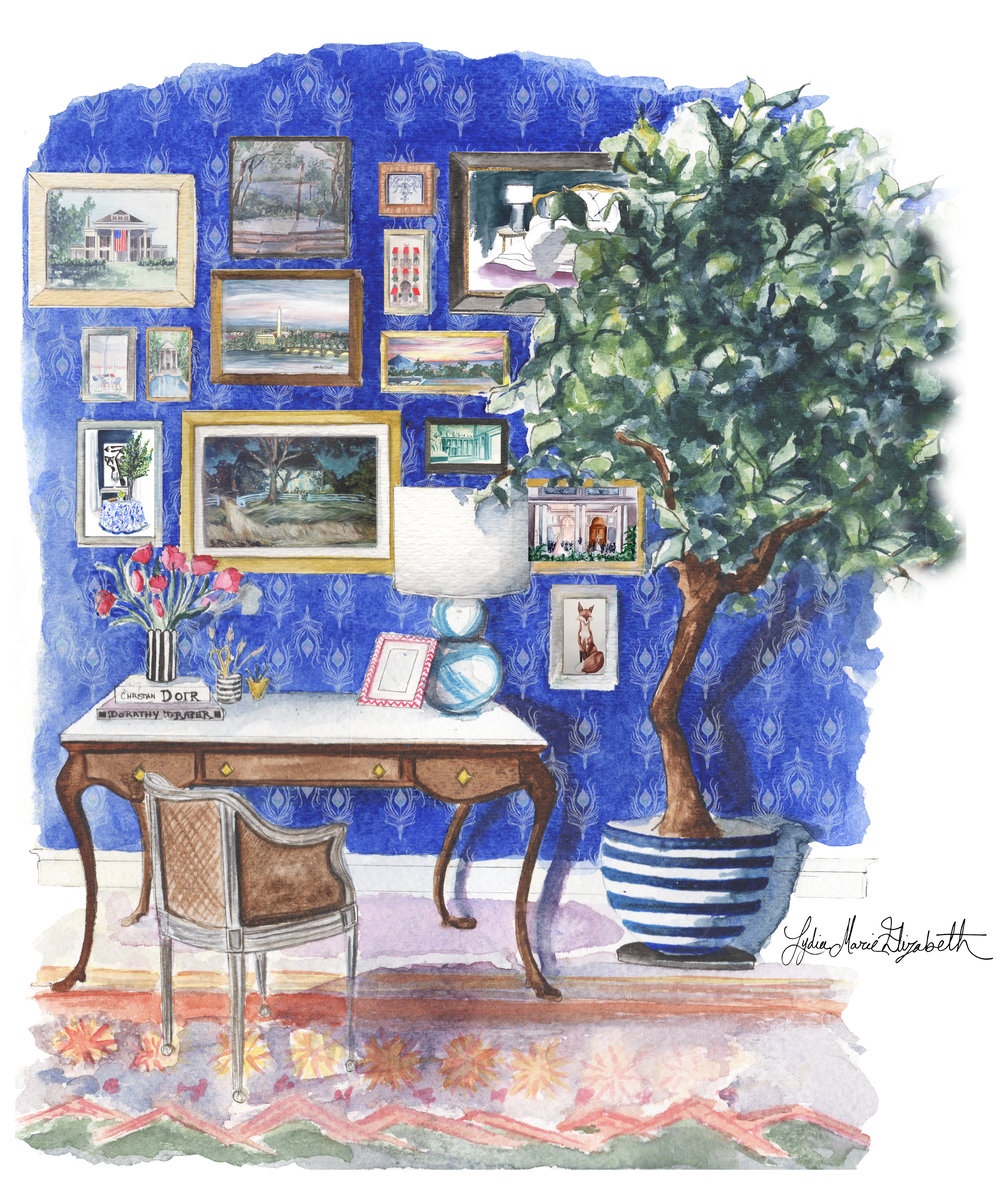 Lydia Marie Elizabeth Watercolor Painting Illustration interior rendering 2017 calendar.jpg