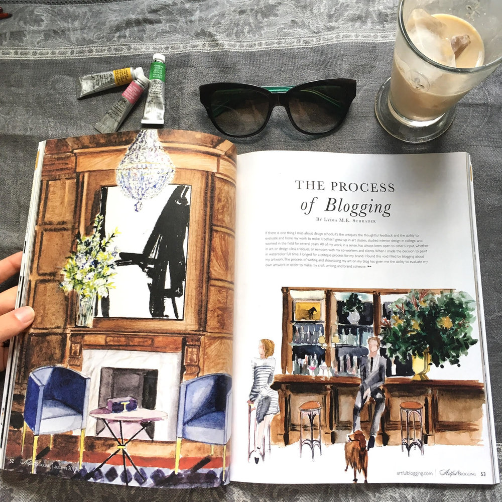Lydia Marie Elizabeth featured in Stampington & Company's Artful Blogging Magazine- featuring Franz Klien whimsical master coper and Ralph Lauren Fashion Week Illustra.jpg
