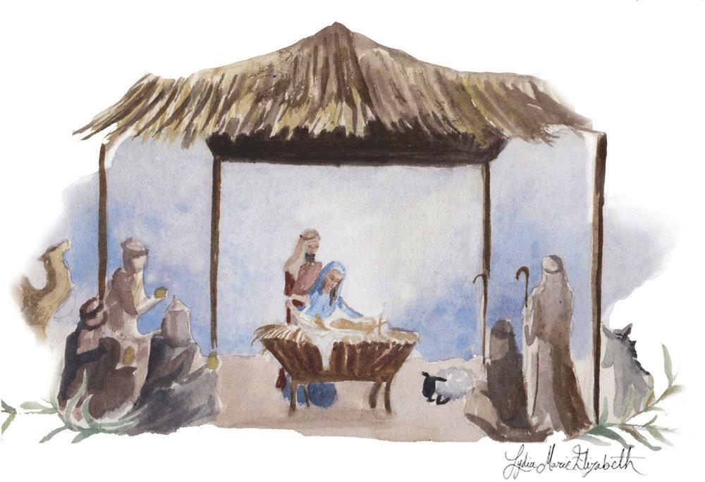 Lydia Marie Elizabeth Manger CHristmas Scene.jpg