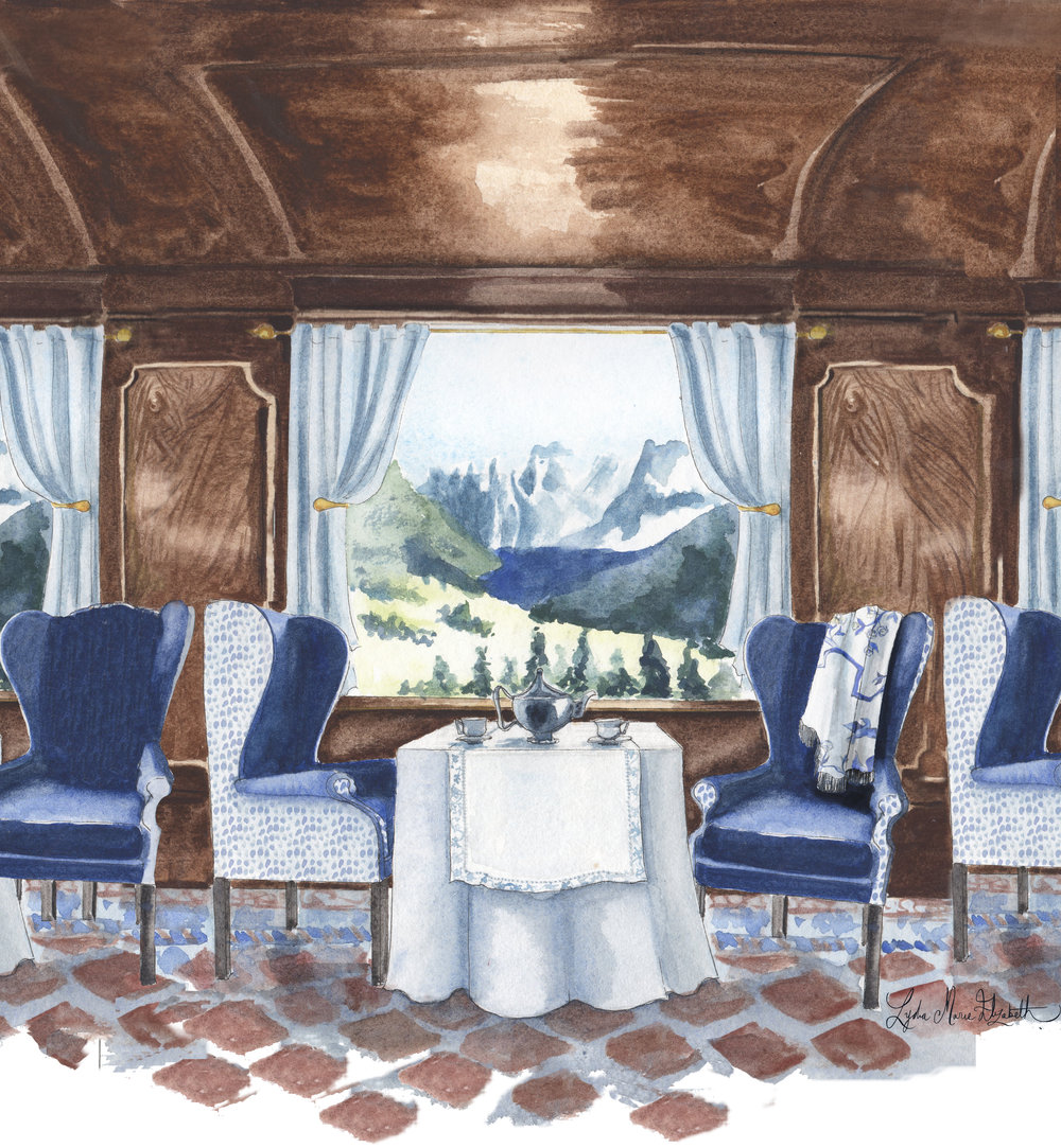 Lydia Marie Elizabeth Interior Portrait of the Orient Express for the 2018 Around the World Interior and Architectural Calendar.jpg