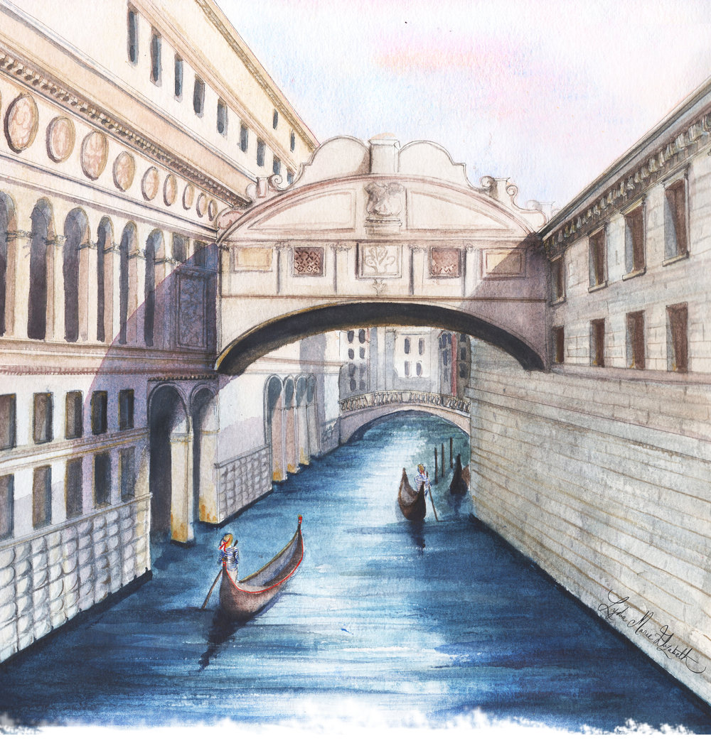 Lydia Marie Elizabeth Venice Bridge of Sighs