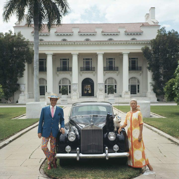 Slim Aarons Photograph Donald Leas in front of the Flaggler Museum in Palm Beach Florida red as research for Lydia Marie Elizabeth  watercolor inspiration