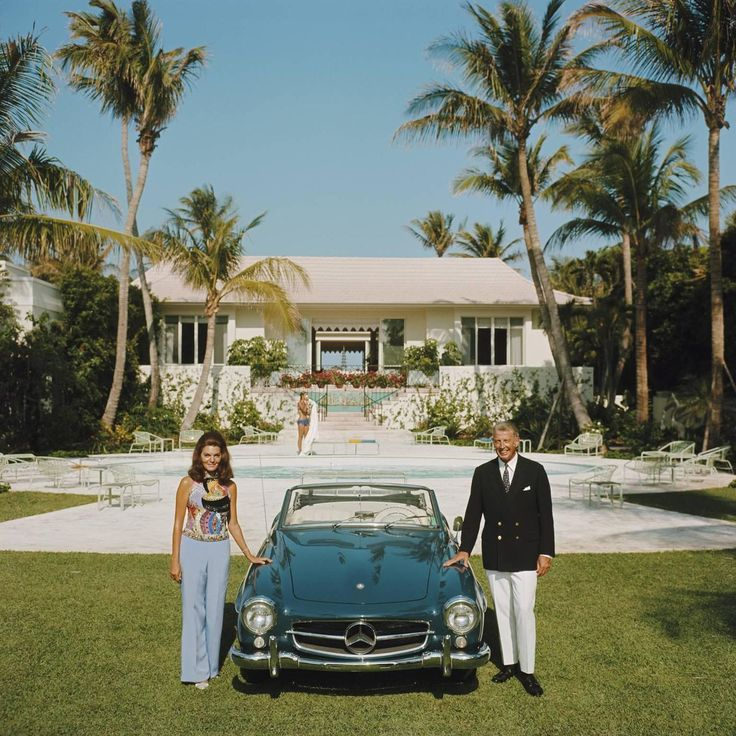 Slim Aarons photograph The Fullers in Palm Beach used as research for Lydia Marie Elizabeth's watercolor research