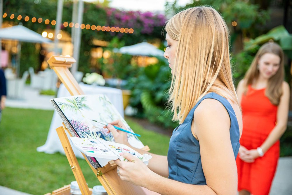 Lydia marie Elizabeth live paintin for thePalm Beach Civic Association's 75th anniversary at the Royal Poinciana Plaza.jpg