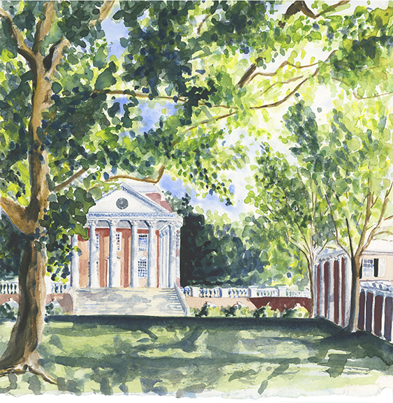 Lydia-marie-elizabeth-university-of-virginia-2019-calendar-watercolor-american-road-trip-painting-illustration