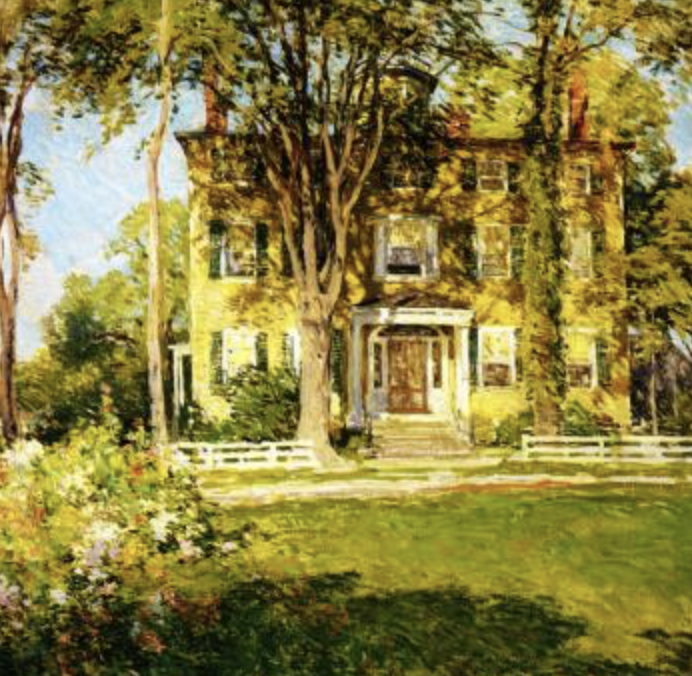 Lydia-maroe-elizabeth-inspiration-in-willard-metaclf-painting-captain-lord-house-in-kennebunkport-maine