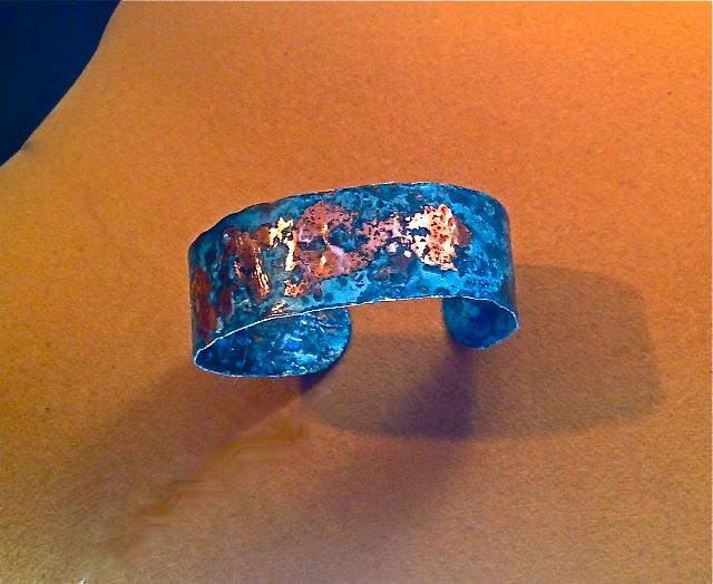 Blue Copper Blast Bracelet