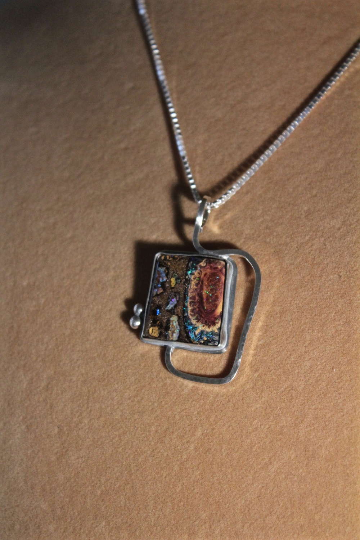 Matrix Opal Pendant