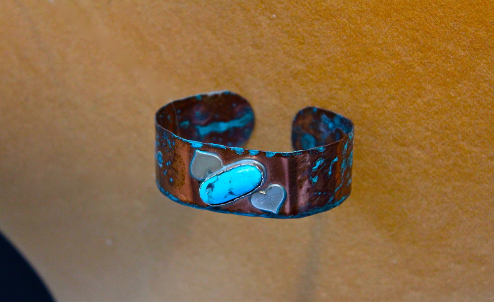 Hearts & Copper Bracelet