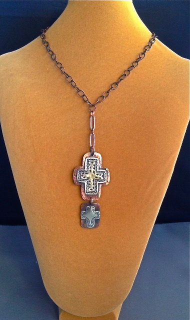 Double the Mission Cross Pendant