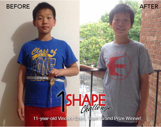 1-SHAPE is safe and effective for everyone! Vincent Chen, 11 years old, took part in the 2016 Challenge, and his team won!