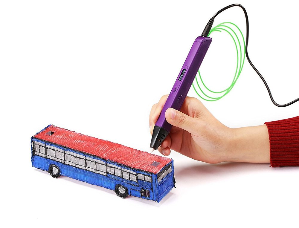 Third Prize (1) - 3D Printing Pen Doodle Printer Pen with LED screen + 3 Packs of ABS Filament Colors