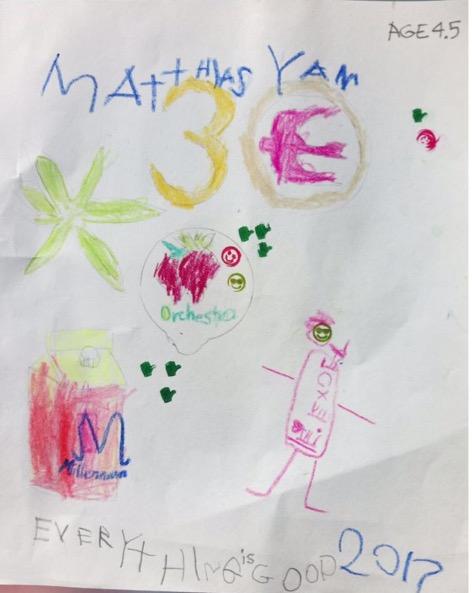 Matthias Yan, Age 4