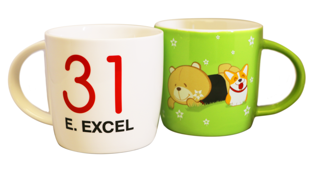 Set of 2 2018 Commemorative E. EXCEL Mugs   15 Points Needed to Win Everyone who reaches 15 Points will receive this set, and can continue on to achieve one other prize as well! You can only win one set of mugs.