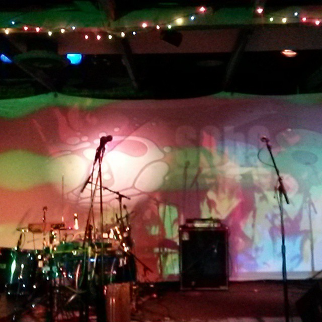 soho tonight in santa barbara tell all your freinds. the gnomes will be gettimg weird the best way we know how. #planetaryprojections #liquidlight #psychedelic #omingnome #caterpillartour