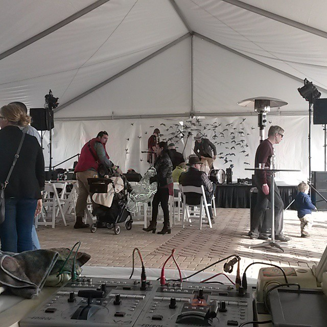 omingnome is playing this stage at 9 come down to the A-town Getdown to see this tent turned into another world tonight. #planetaryprojections #omingnome #atowngetdown #liquidlight