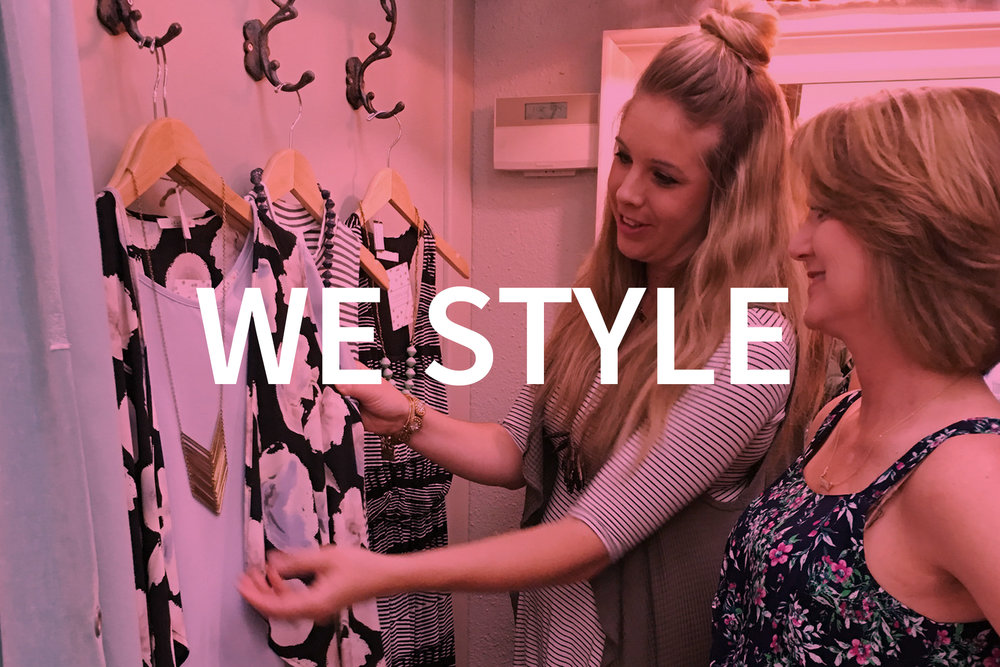 We provide a personalized (and fun!) styling experience for every woman that walks through our doors!