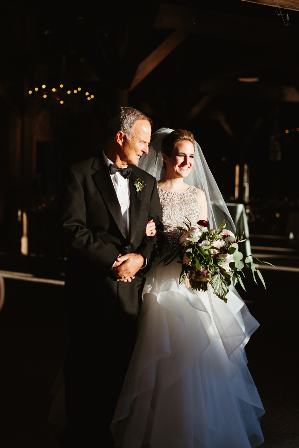 Ashley and her dad, Boone Hall Cotton Dock