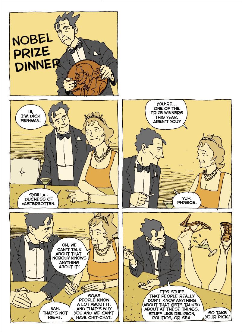 Feynman graphic novel