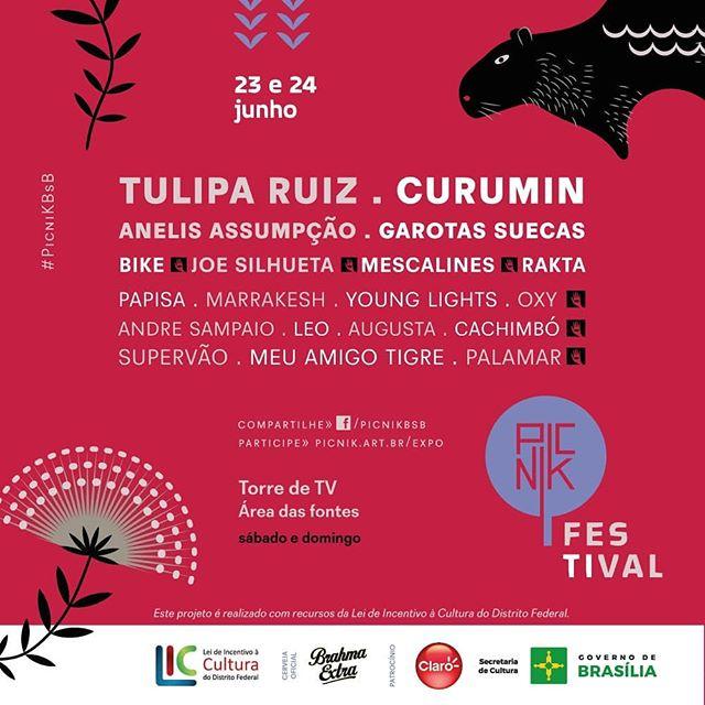 """Alô Alô Brasília! Dia 23/6 tem show no festival @picnikbsb. Tem garotas suecas e várias outras atrações quentíssimas, vai ser lindo! É o lançamento do """"Futuro do Pretérito"""" por aí. Não percam a chance de curtir essa festa!!! #lançamento #brasília #futurodopretérito #festival #picnik"""