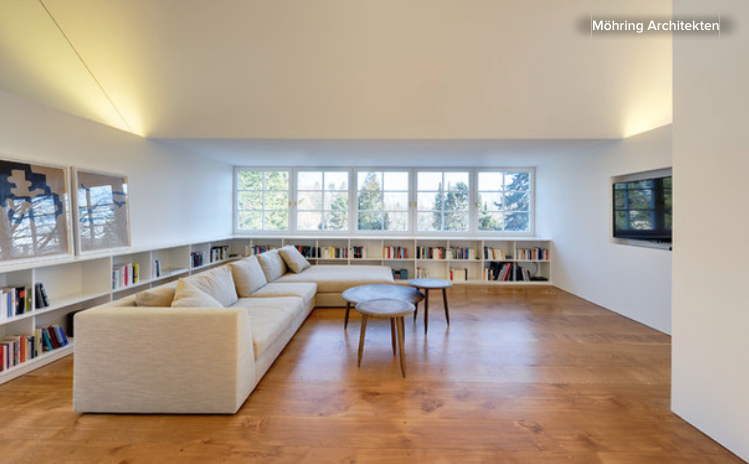 Low Library Shelves Wrap Two Walls In This Berlin Living Room
