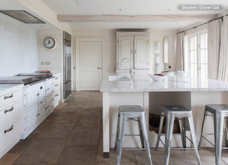 Stylish Breakfast Bar In A Different Material To The Worktop photo - 7