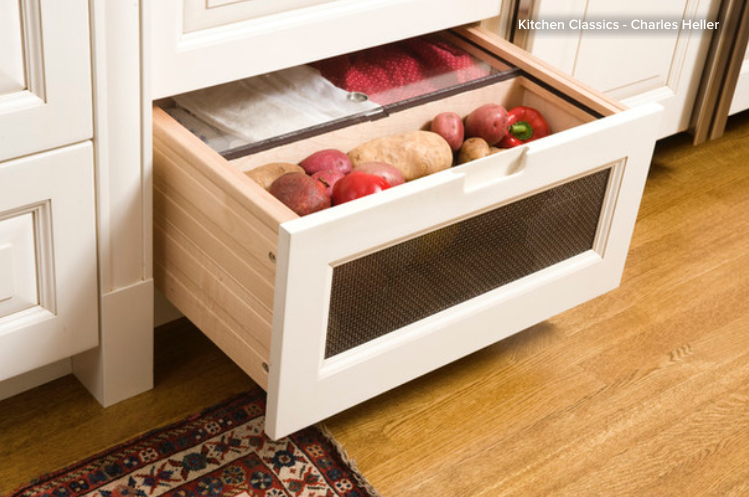 Give Drawers Air For Food Storage. Store Some Vegetables U2014 For Example,  Onions, Garlic, Uncut Pumpkins And Potatoes U2014 In Ventilated Drawers To  Maintain ...