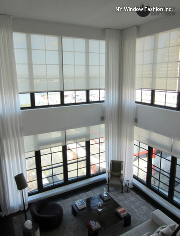 The art of the window power up with motorized treatments for 2 story window treatments