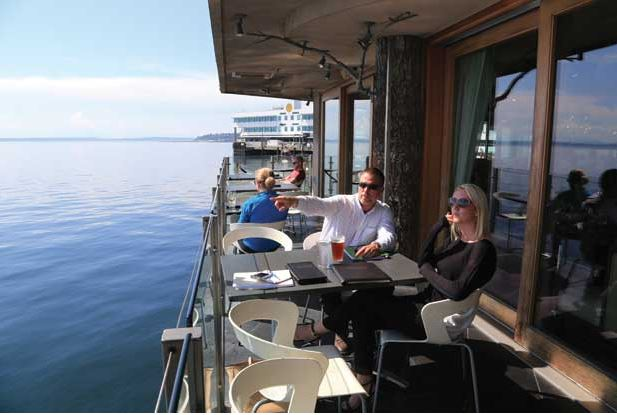 The endless view at Six Seven on Seattle's waterfront