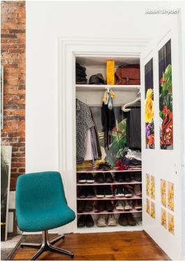 Mixed Media Artist Gavin Benjamindoes A Lot Of Things Artfully. In  Addressing The Small Closet Situation In His Pittsburgh Live Work Space, He  Added Shoe ...