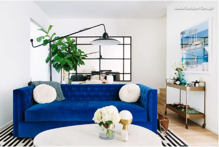 6ce620e81a7 1. Add plants. Freshen up an indoor space with living plants. Bringing in  even a single potted specimen, like a fiddleleaf fig (Ficus lyrata, seen  here), ...