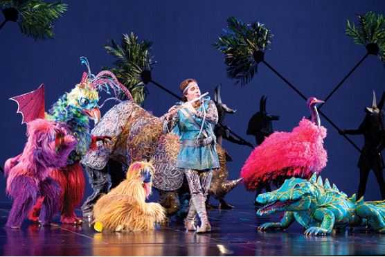 """Image Credit:Rozarii Lynch                                             Zandra Rhodes' 'Magic Flute' costumes, first seen by Seattle audiences in 2011, return in an encore performance by the Seattle Opera. The designer calls them """"wearable dreams"""""""