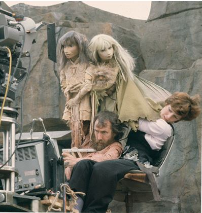 Image by Murray Close Jim Henson and Kathryn Mullen with puppets Jen and Kira on the set of The Dark Crystal in 1981