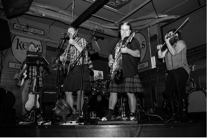 "Stark Raving Plaid played at Kells' St. Patrick's Day celebration last year (the 34th annual of which will happen again on Friday), and you can catch the ""high-energy, raucous Celtic pub band"" this year at the Old Pequliar, Fadó, and the Wilde Rover. KELLS"