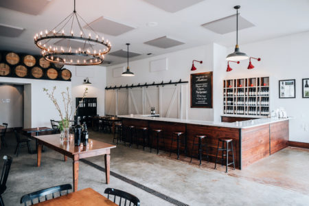 The tasting room at Matthews Winery and Farm. Photo courtesy Matthews Winery and Farm.