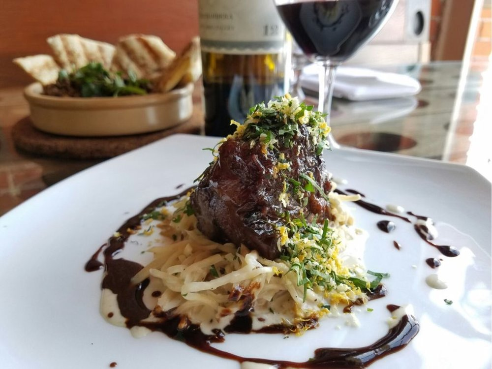 Beef Cheeks at Saffron. Photo by: Colby D. Kuschatka